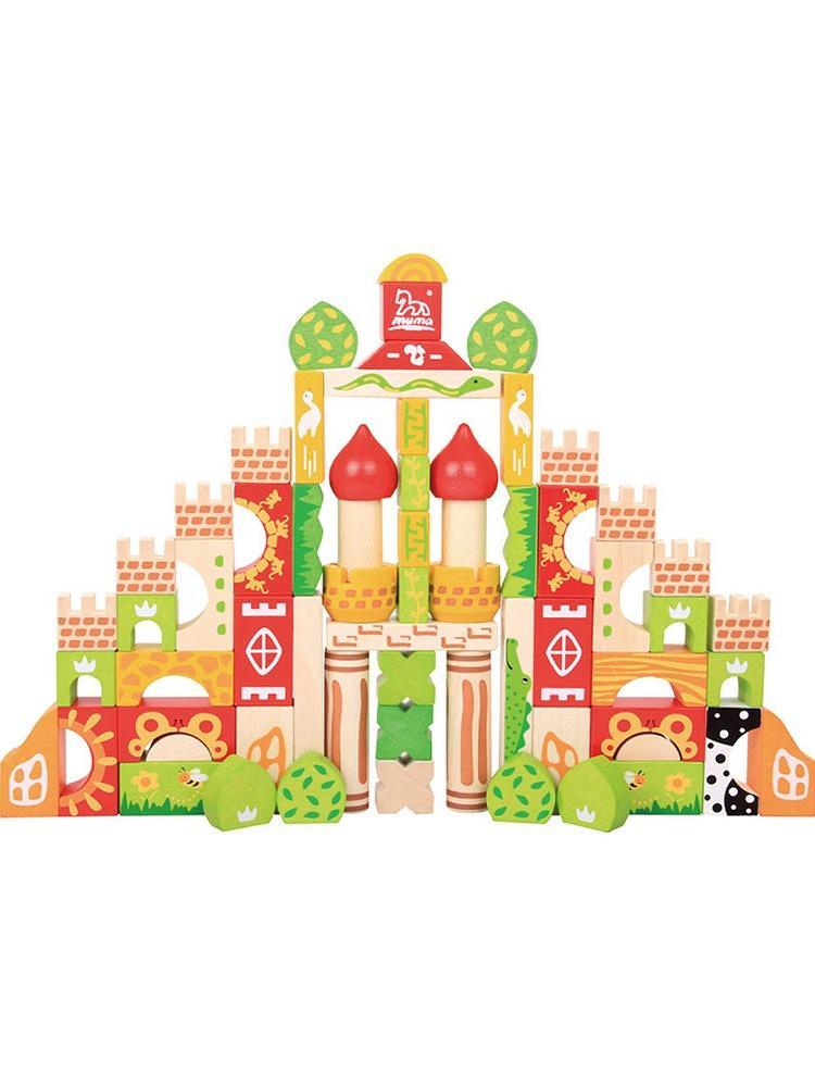 木马智慧 森林城堡情景积木
