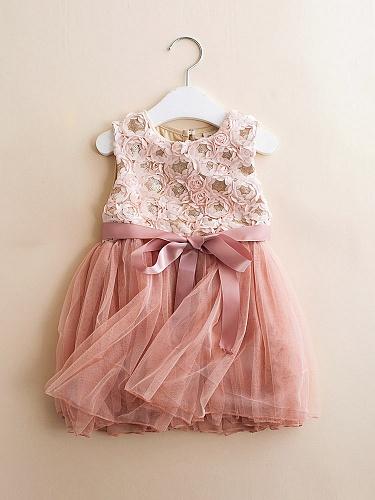花笙糖 可爱小公主花朵系带纱裙 专为2-10岁儿童设计,将时尚元素与