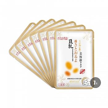 中国•MISSFACE豆乳舒颜清滢水凝面贴膜25mlx7