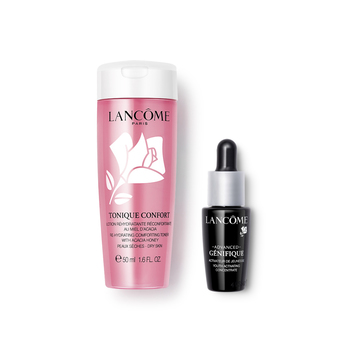 法国•兰蔻 (Lancome)粉水小黑瓶两件旅行组(清滢柔肤水 50ml+新精华肌底液  7ml有盒)
