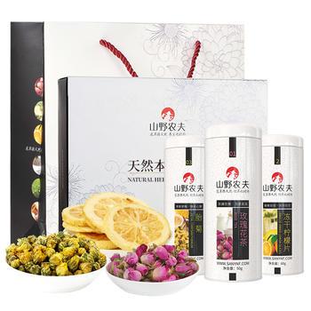 山野农夫 优雅三宝 花茶礼盒150g