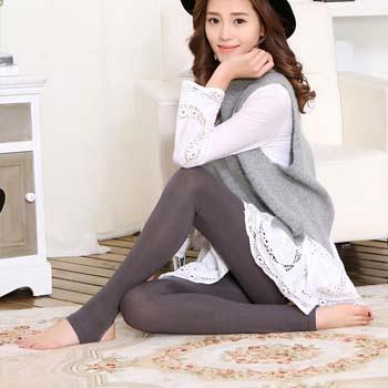 中国•莫代尔踩脚裤舒适亲肤 咖啡色