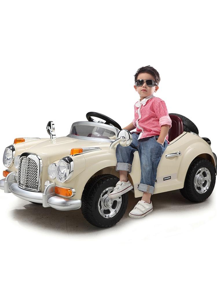 贝瑞佳电动童车双驱可坐老爷车