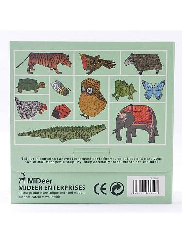 体手工-动物纸模