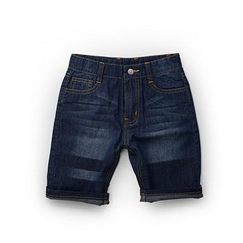 中国•Minizone卡斯波和丽莎5分牛仔裤 蓝