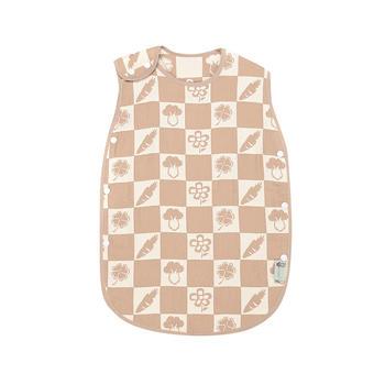 零听婴幼儿有机彩棉蘑菇睡袋夏季空调儿童防踢被