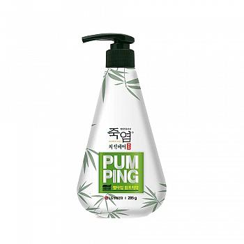 韩国•LG竹盐 原生白防牙石美白 牙膏(按压式)285g(清韵薄荷)