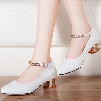 女鞋秋?#23616;?#36319;单鞋女尖头浅口鞋子