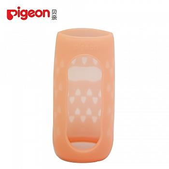 贝亲-标准口径硅胶奶瓶套(200ml)-西柚红
