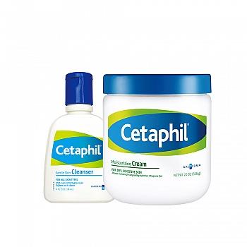 丝塔芙(Cetaphil)清洁致润套装(保湿霜566g+洁面乳118ml)