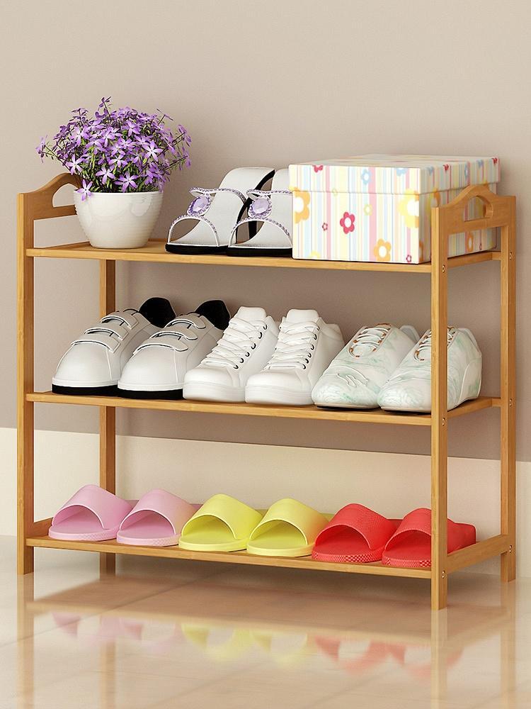 楠竹单排三层多功能鞋架