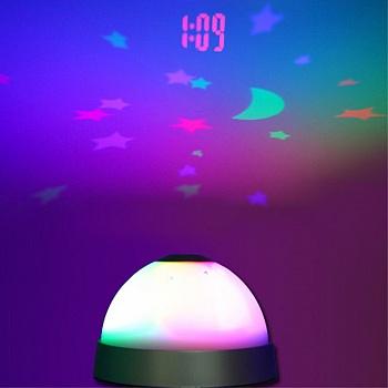 中国•投影LED电子静音闹钟多功能懒人