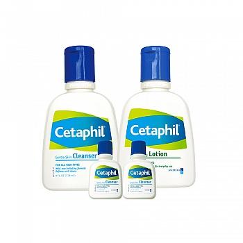 加拿大•丝塔芙(Cetaphil)便携洁润套装(洁面乳118ml+保湿润肤乳118ml+洁面乳29ml*2)