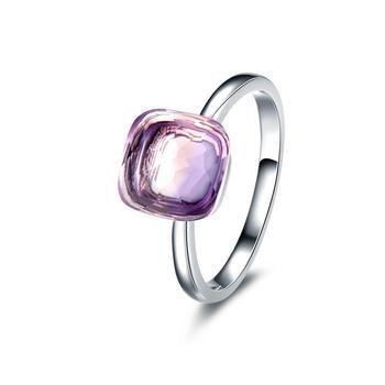 今上珠宝 18K金紫晶宝石戒指