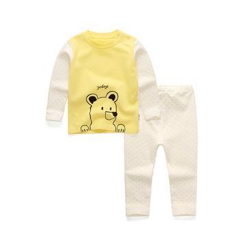 优贝宜儿童卡通内衣套装 黄色