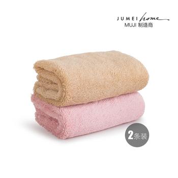 中国•聚美优选埃及进口长绒棉加厚面巾(2条装)