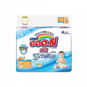 日本•GOO.N® 大王环贴式纸尿裤 维E系列 M30片