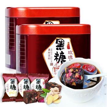 四月茶侬黑糖玫瑰姜茶200g×2罐