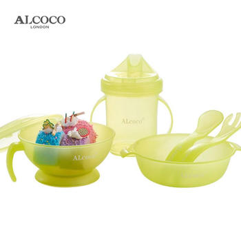 ALCOCO儿童餐具碗勺叉水壶5件套