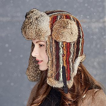 中国•kenmont女士冬季棉帽护耳骑行帽2595