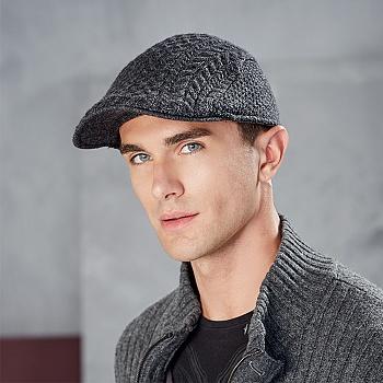 中国•kenmont英伦帽子男士羊毛线帽子2576