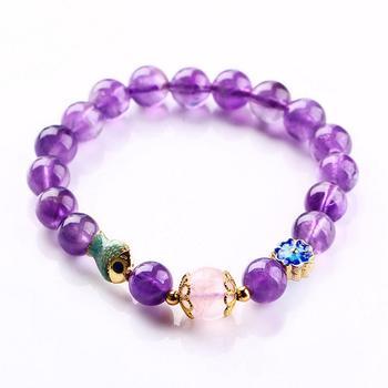 连年有余 紫水晶单圈手串