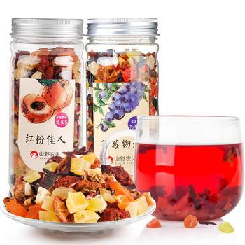 山野农夫 蓝莓蜜桃果茶组合150g*2