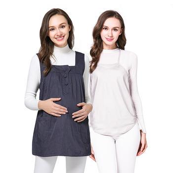 婧麒孕妇装防辐射服藏青色A套装