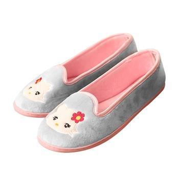 婧麒产妇产前产后防滑月子鞋灰猫