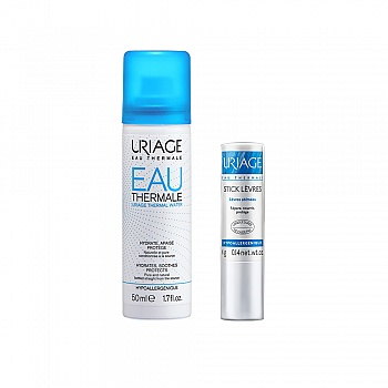法国•依泉(URIAGE)柔润护唇膏4g+舒缓保湿喷雾50ml