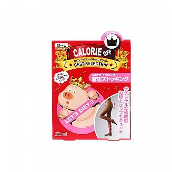 日本•小猪袜 (CALORIE OFF )发热显瘦压力连裤袜 20D M-L 肉色