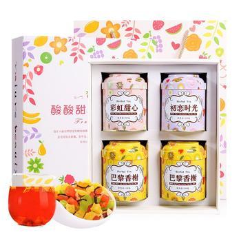 四月茶侬 4罐装水果茶礼盒600g