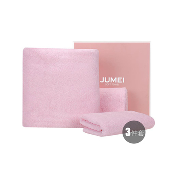 中国•聚美优选日式樱花超柔毛巾三件套