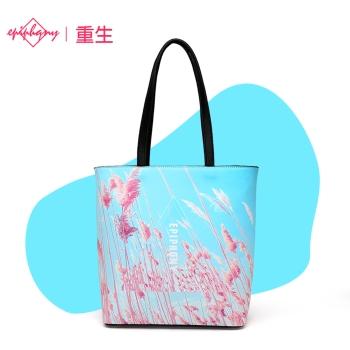 中国•小清新芦苇印花单肩手提斜挎包