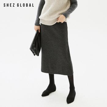 韩版SZ春新款宽松半身裙开叉长裙