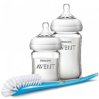 英国•飞利浦新安怡宽口径自然系列玻璃奶瓶新生儿套装