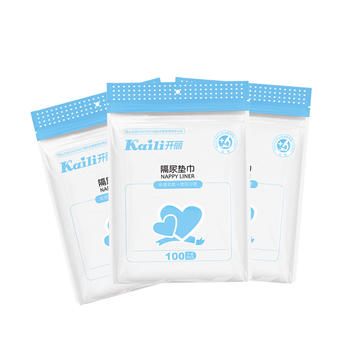 开丽婴儿隔尿垫巾100片*3包装