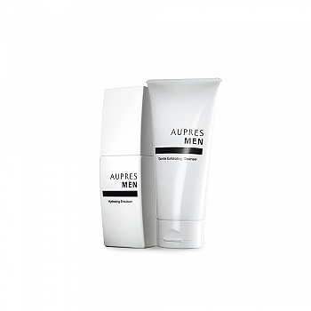 中国•欧珀莱 (AUPRES)俊士温和护肤二件套(温和洁面膏125g+滋润凝乳100ml)