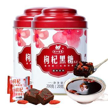 枸杞黑糖姜茶200g×2罐