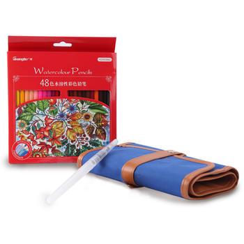 kinbor广博48色水溶性彩铅套装