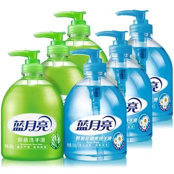 蓝月亮洗手液芦荟野菊花1斤x6瓶装