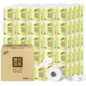 清风卷纸3层245段32卷原木系列