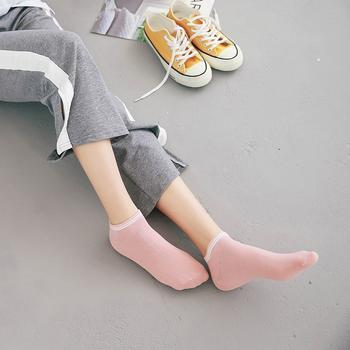 赛棉罗口横条女短袜舒适棉  5双装