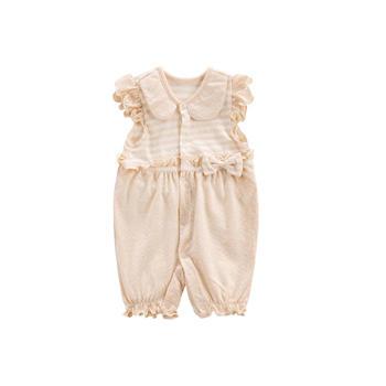 Cipango夏款有机棉无袖婴儿连体衣