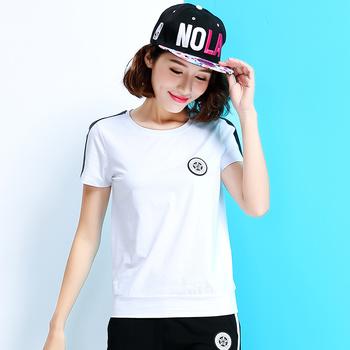 自由呼吸韩版印花短袖潮套装