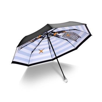 德国iRain三折海盗兔海军蓝太阳伞