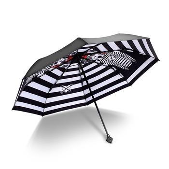 德国iRain三折斑点狗水钻头太阳伞