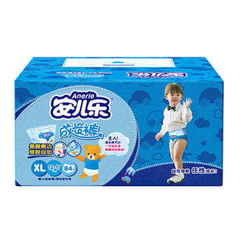 安儿乐成长裤男宝XL84片