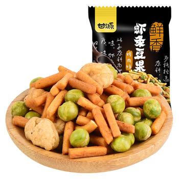 甘源牌 烤肉味虾条豆果 休闲炒货零食 285g