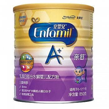 美国•美赞臣安婴儿A+亲舒乳蛋白部分水解婴儿配方粉850克罐装